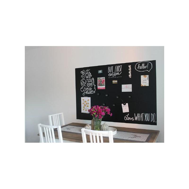 Tafelfolie Kreide & Kreidestifte magnetisch selbstklebend_60x40 schwarz