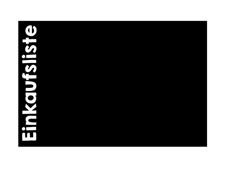 120 x 80 cm | Tafelfolie 🛒 Einkaufsliste 🛒  | Kreide & Kreidestift | schwarz | selbstklebend