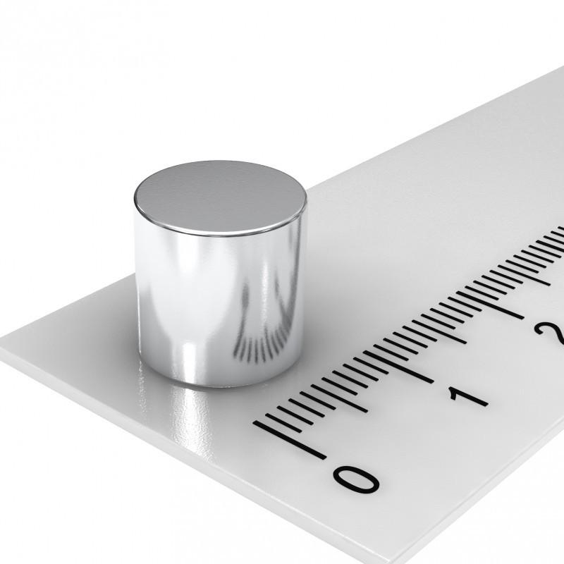 Hochleistungs-ScheibenMagnet-silber 10x10mm