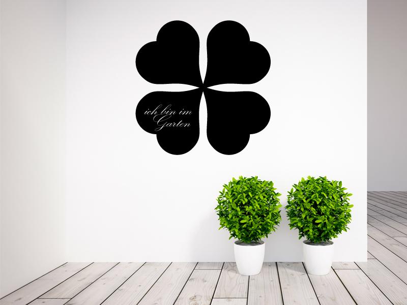 40 x 40 cm | Tafelfolie  🍀 Kleeblatt 🍀  | Kreide & Kreidestift | schwarz | selbstklebend