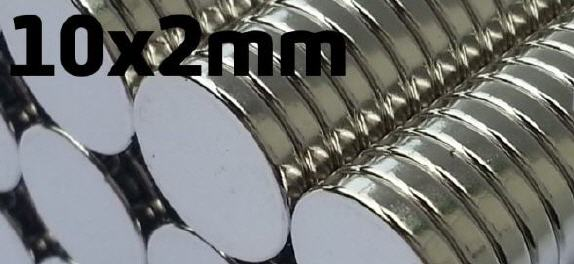 60er Pack Hochleistungs-ScheibenMagnet-silber 10x2mm